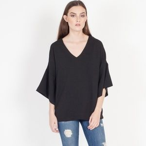 Modern Citizen Anja Swing Sleeve Blouse Black Med